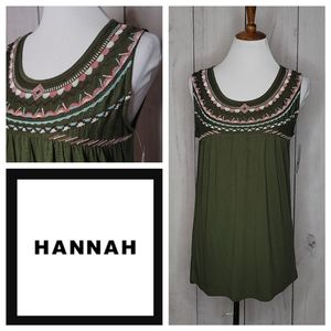 Hannah Embroidered Sleeveless Top NWT